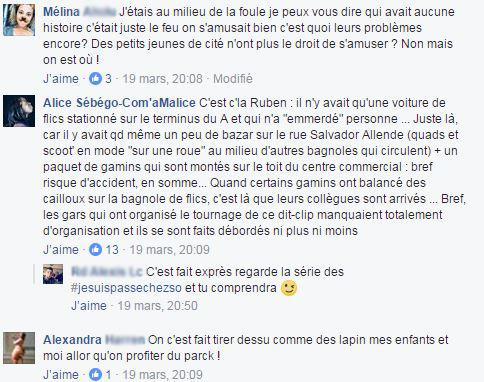 Le tournage du clip de Sofiane en commentaires (capture d'écran Facebook) 1/3