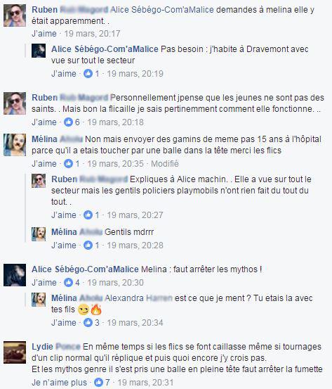 Le tournage du clip de Sofiane en commentaires (capture d'écran Facebook) 2/3