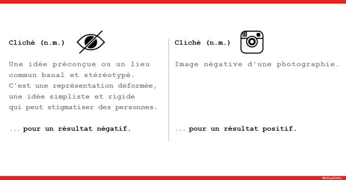 Les clichés vs les clichés